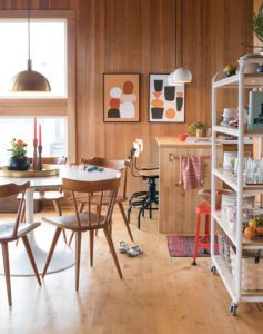 Loving that open shelving on the right  |  scandinavian modern dining room via @citysage