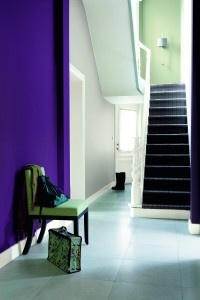 Dulux tailor Made Colour, Purple Sage 1, back wall Dusted Moss 2...oh thats a beautiful color!