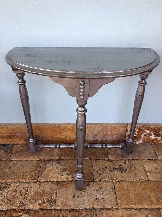 56 best half moon table vintage images on pinterest half moon table furniture redo and. Black Bedroom Furniture Sets. Home Design Ideas