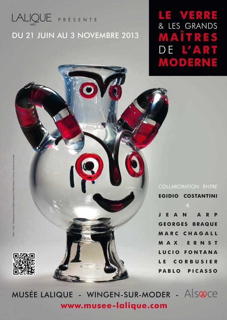 Affiche de l'exposition à voir au musée Lalique jusqu'au 3 novembre 2013