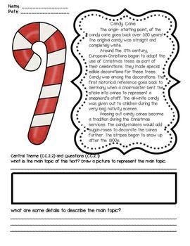 INFORMATIONAL TEXT FOR CHRISTMAS (SHORT PASSAGES ABOUT CHRISTMAS SYMBOLS) - TeachersPayTeachers.com RI. 1, RI.2, RI.4, and RI.6 ($)