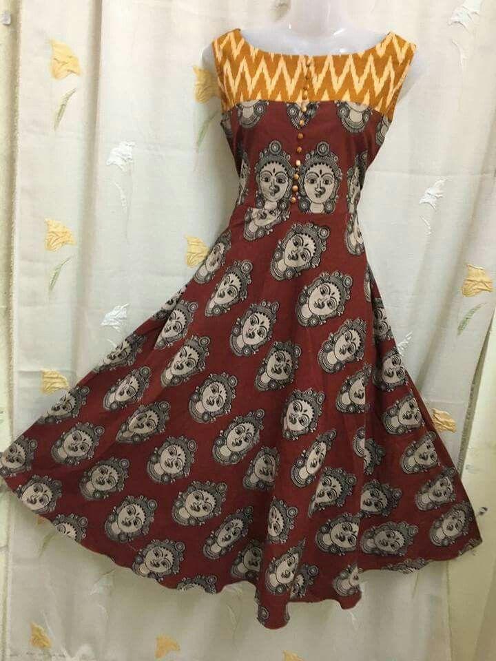 Ikkat. And kalamkari designer tops Price :1800 freeshipping Order WhatsApp 7995736811