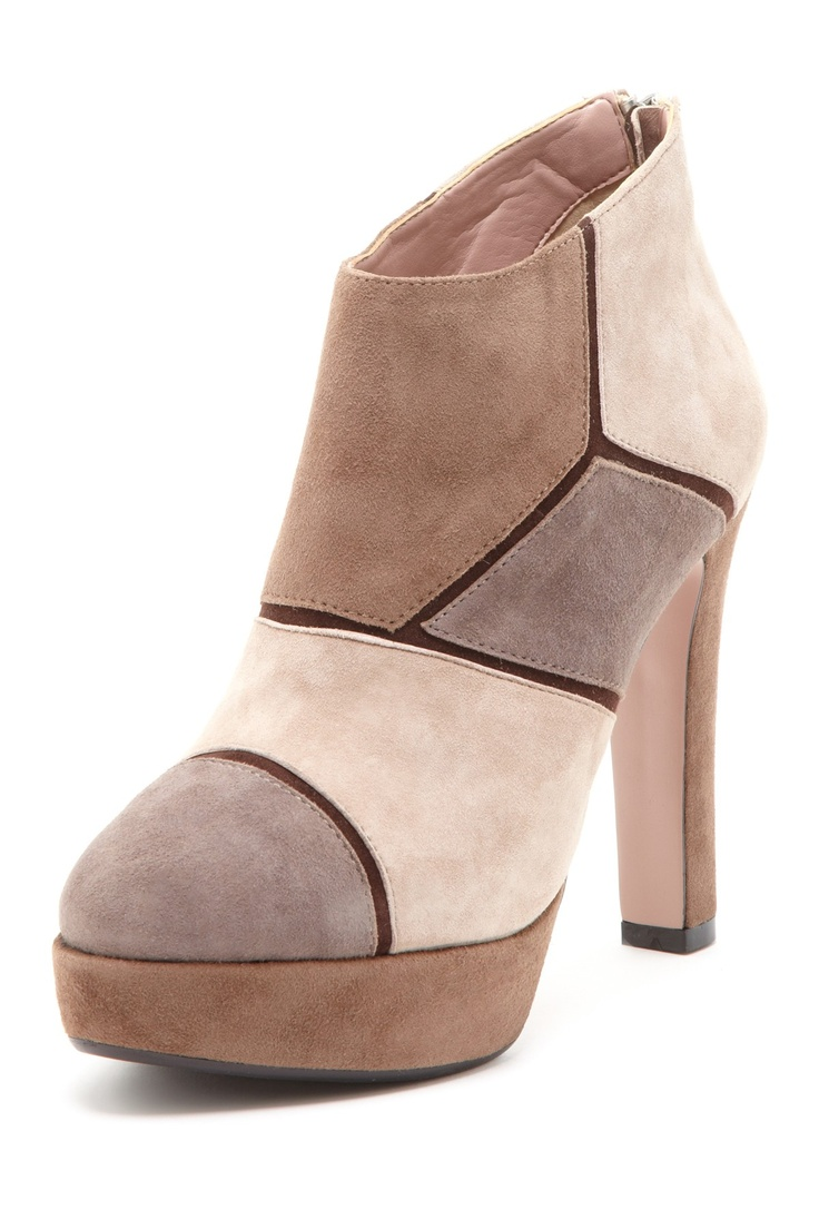 Colorblock Suede Bootie--looks like a giraffe