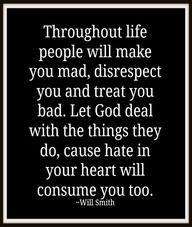 Sometimes they only hear one side of the story and I figure one day when they stand before God he can give them the TRUE details.  Then they will have to explain the bad thoughts and feelings they had about you.  They will be the ones missing out on the enjoyment of friends and family.