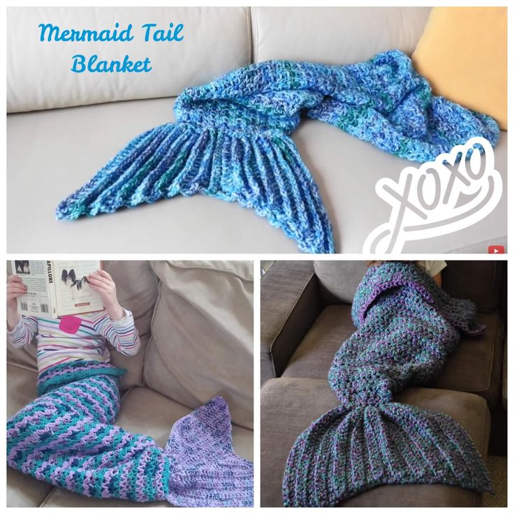 Easy Crochet Pattern For Mermaid Blanket : How to Crochet the Trendy Mermaid Tail Blanket These ...