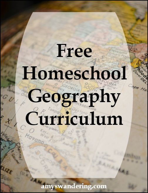 Big list of Free Homeschool Geography Curriculum