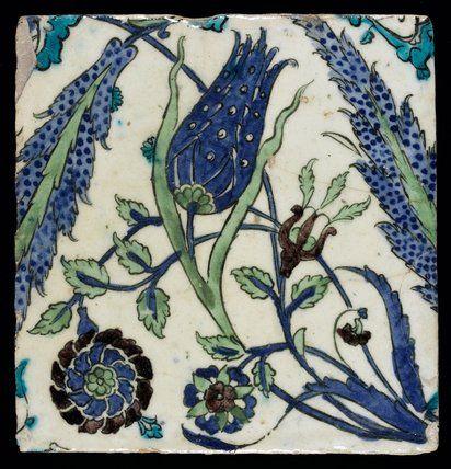 Iznik Tile, Ottoman Period -- Fitzwilliam Museum Prints