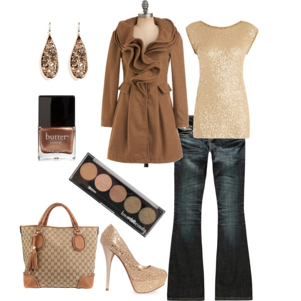 Very cute...Nutrals with dk denim.Fashion, Style, Girls Night, Inspiration Pictures, Woman Clothing, Neutral Tone, Parties Outfit, Dates Night, Coats