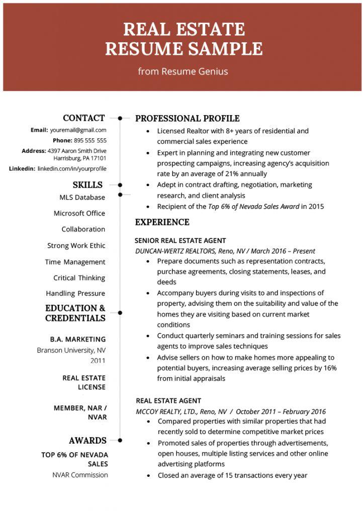 Realtor Resume 2021 Manager Resume Resume Resume Examples