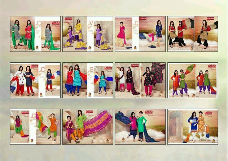 Buy Designer Taniksh Sheen Sandhya 2 Top 1 Bottom Dress Material