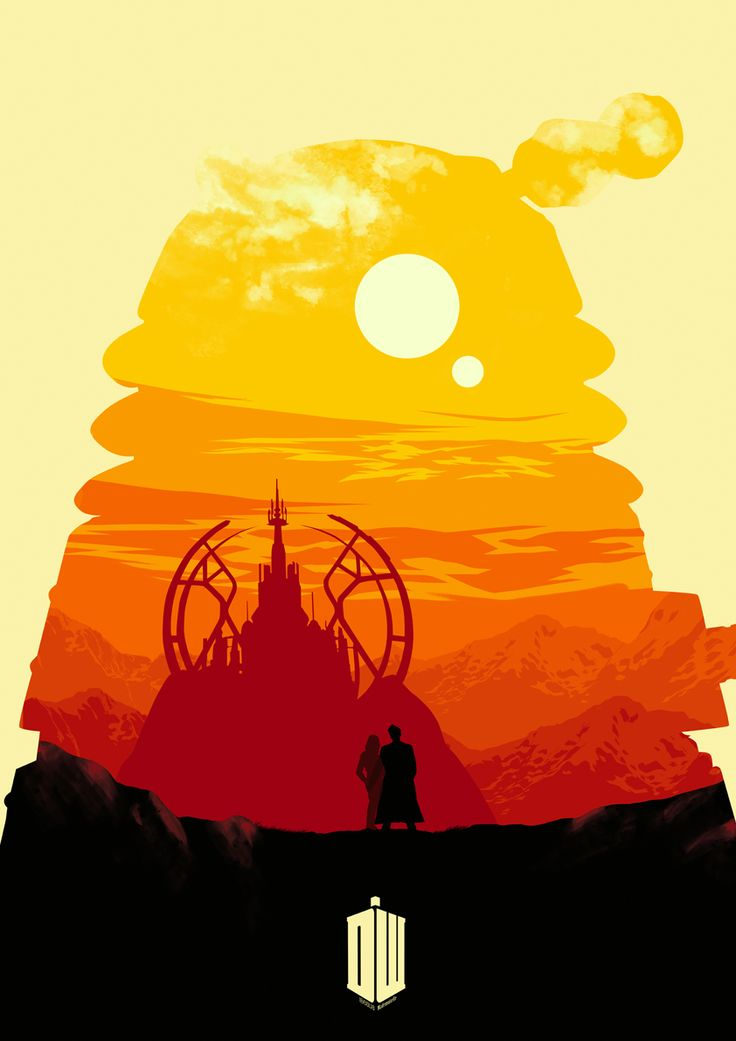 Alone by *Ibealia on deviantART. Doctor Who minimalist poster fan-art submission