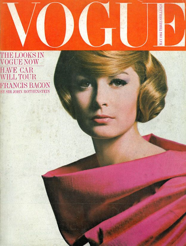 Vogue cover, May 1964, pink dress