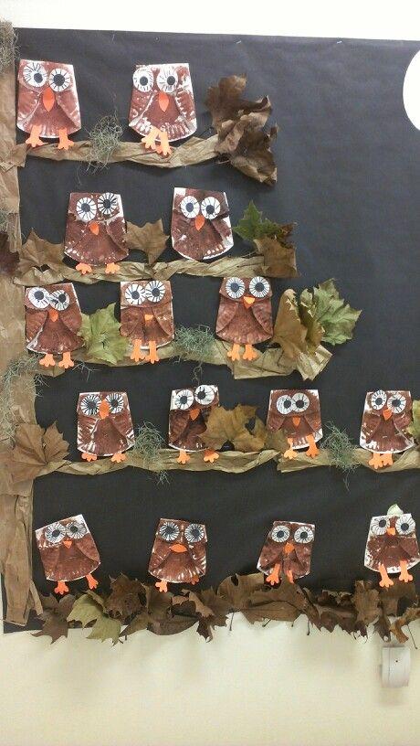 Paper plates owls