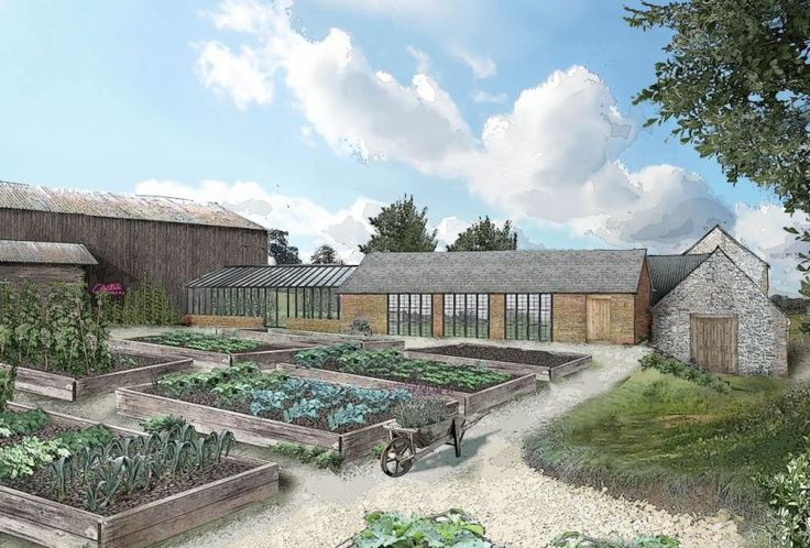 Soho Farmhouse, Great Tew Estate near Titbury. By the Soho House Group. Vegetables garden