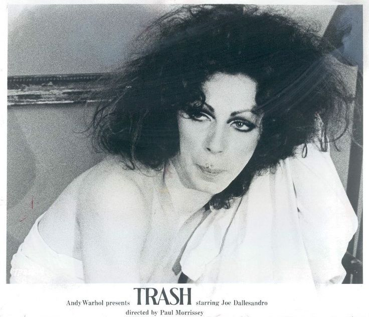 "Holly Woodlawn on the poster for ""Trash"""