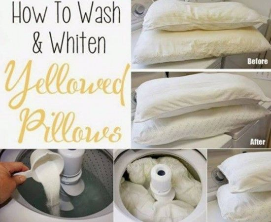 Learn the best way to clean yellow pillows with this excellent video tutorial. We've included a 4 ingredient recipe for a homemade miracle whitener too.