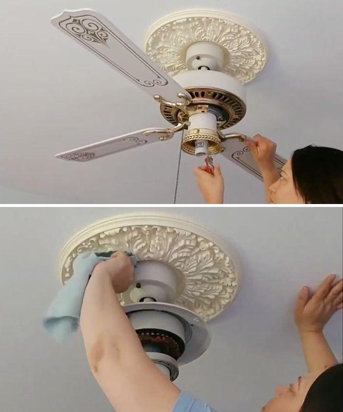 How To Update An Old Ceiling Fan Diy Ceiling Fan Diy Ceiling
