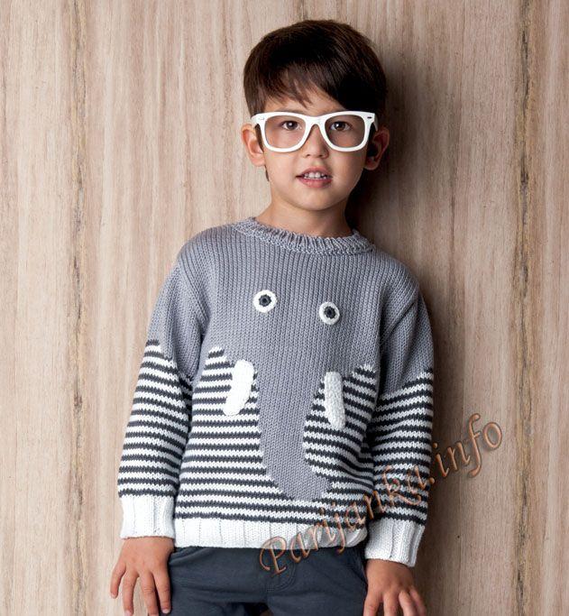 Пуловер (д) 14*119 Phildar №4630