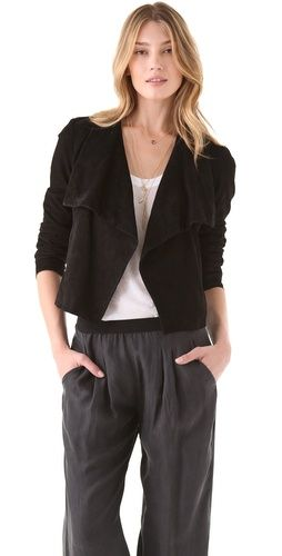 Theory Kanya L Suede Jacket http://fashionlovestruck.com/casual-luxe/#