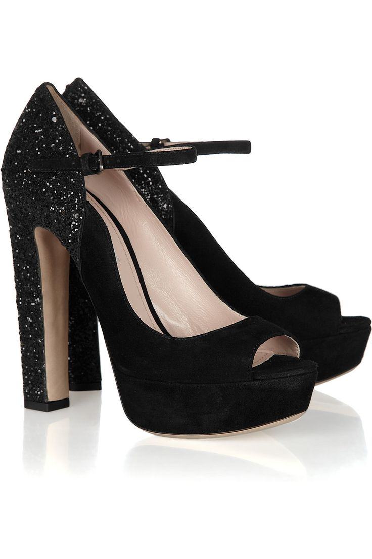 Miu Miu Sequined Round-Toe Pumps low shipping cheap price 2JAHCCcn4x
