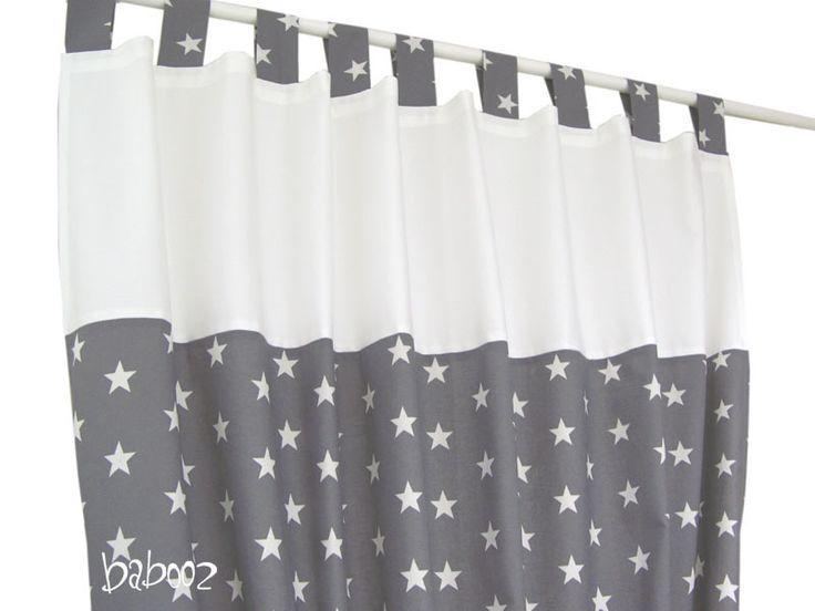 Schlafzimmer Gardinen Set : gardinen stern grau gardinen stern grau von babooz auf dawanda com von