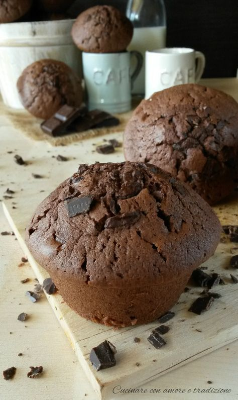 Muffins alla nutella e cioccolato fondente
