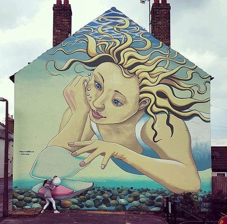 New Street Art by MarvellousMurals found in Whitstable UK   #art #mural…