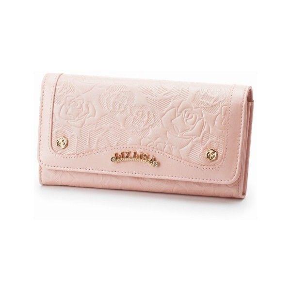財布(ローズカタオシ長財布) | リズリサ(バッグ&ウォレット)(LIZ LISA Bag&Wallet) | ファッション通販... ❤ liked on Polyvore featuring bags, wallets, pink wallet and pink bag