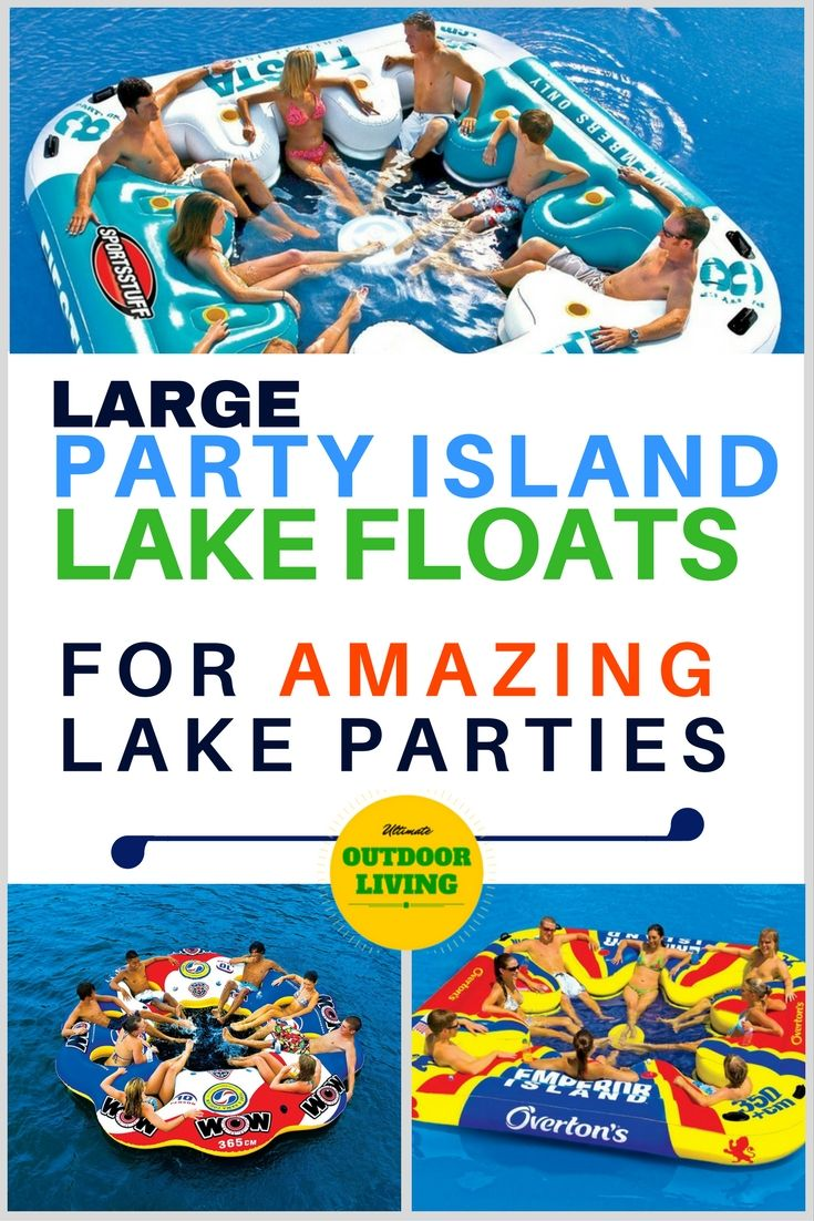 Inflatable lake floats for large groups.