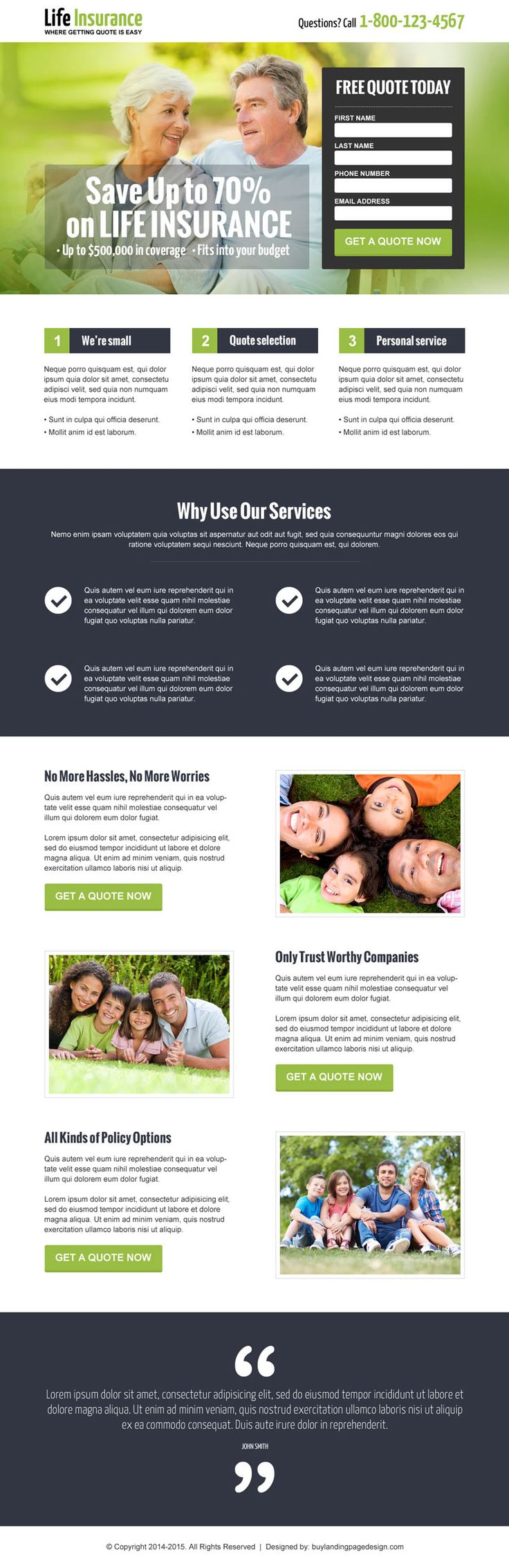 life insurance landing page designs to capture leads online | landing page designs
