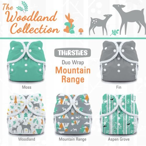 Thirsties Duo Wrap Cloth Diaper Covers - Woodland Collection Package