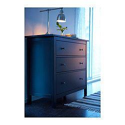HEMNES Commode 3 tiroirs - brun noir - IKEA