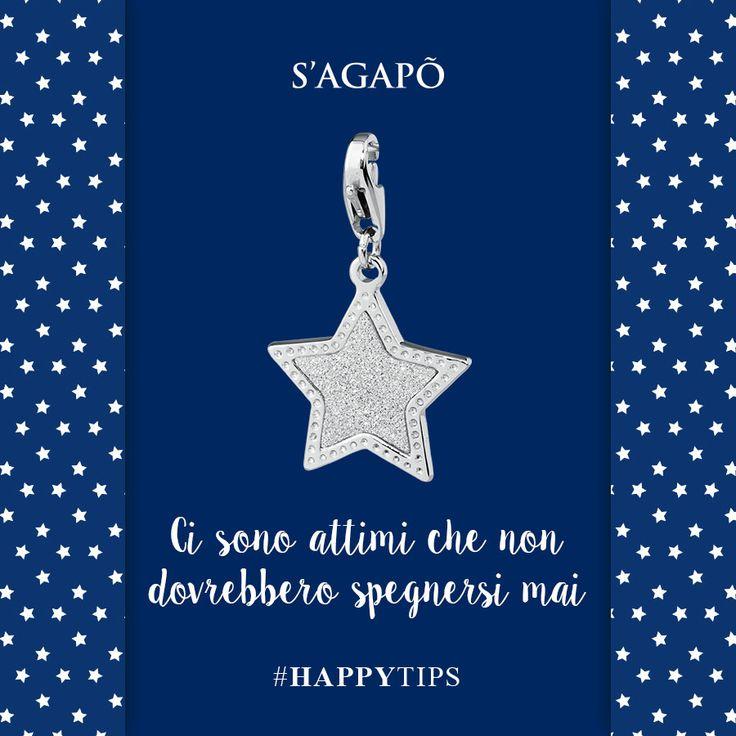 Ci sono attimi che non dovrebbero spegnersi mai #HappyTips #Happy #charms #ciondoli #stella #quote #citazioni #frasi