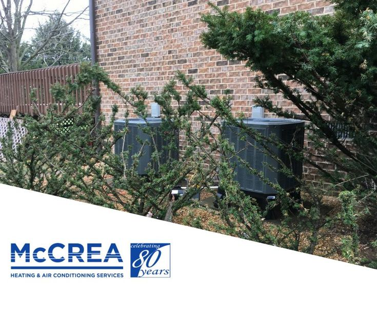 You don't need to hide your units. We know trusting a HVAC company can be tough...but we are here to help. So throw away those bushes (or not!) and sign up for our service contracts. #McCreaWay #McCreaFamily #HVAC #HVACTech
