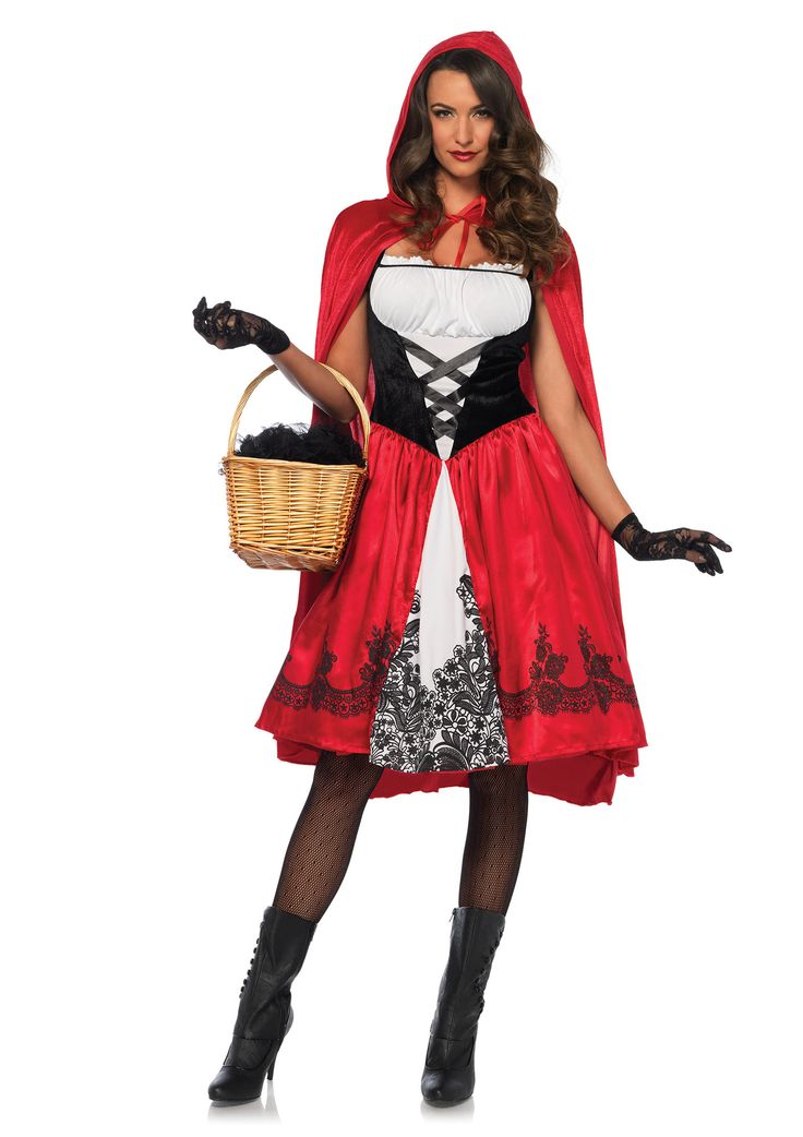 classic red riding hood costume little red riding hood halloween costume womencostumes - Classic Womens Halloween Costumes