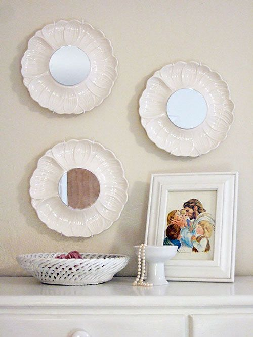 turn old plates into mirrors