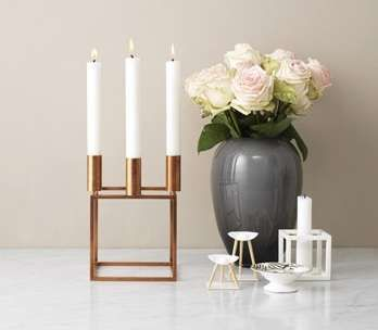 Kubus Candle Stands are a Dramatic Way to Display Flickering Lights #Candleholder #Candles trendhunter.com