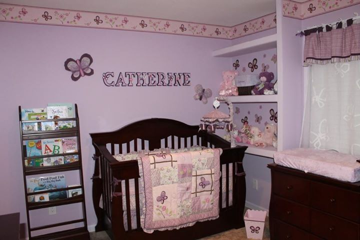 Purple Erly Sugar Plum Nursery Letters At Https Www Etsy