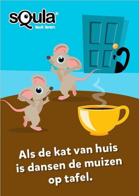 Als de kat van huis is dansen de muizen op tafel