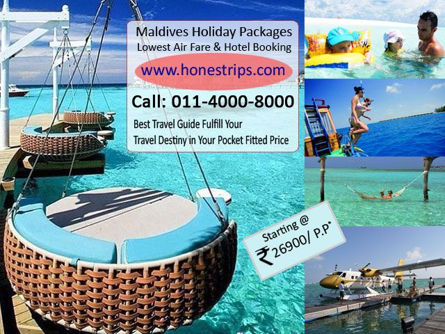 This summer explore the natural beauty at Maldives, Honestrips provides cheapest international airlines tickets, and economical Maldives holiday packages, it is easy to fit your pocket expenses. Our hassle free best holiday packages make unforgettable memory in your entire life.  http://www.slideshare.net/Honestrips/enchanting-maldives-package-with-honestripscom