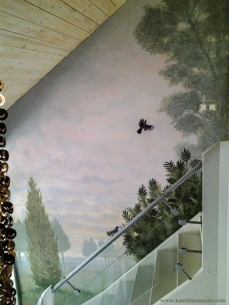 Mural in private home, Gnesta, Sweden