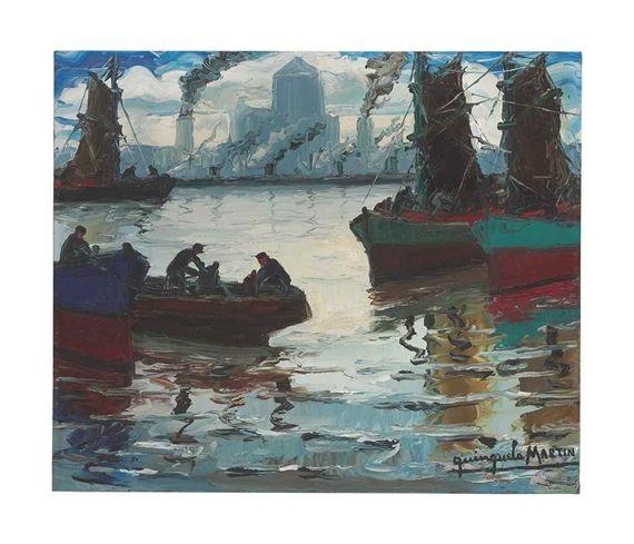 Llegada de pescadores - Benito Quinquela Martin