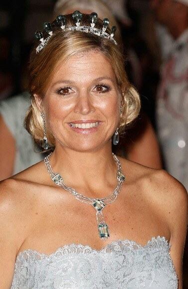 Queen Máxima wearing the aquamarine tiara