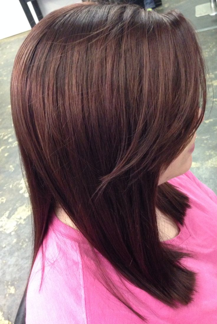 Red Cherry Cola Hair Color | Dark Brown Hairs
