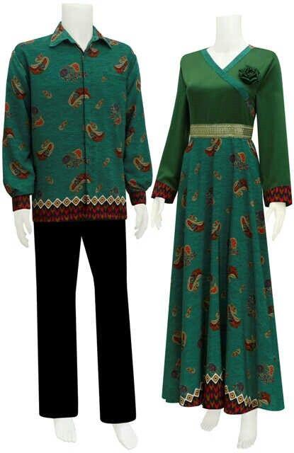Couple Gamis  Semi sutera Babytouch Kemeja lengan panjang M L XL Cewek Ld 110 Harga 265rb  #couplegamis #Batik #sarimbitbatikmodern #semisutera