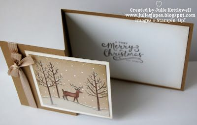 Julie Kettlewell - Stampin Up UK Independent Demonstrator - Order products 24/7: White Christmas for Coffee and Card