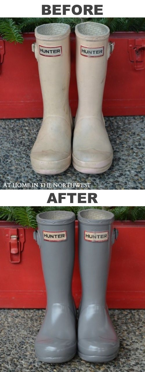 restore old rubber boots with spray paint 29 cool spray paint. Black Bedroom Furniture Sets. Home Design Ideas
