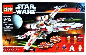 Lego Year 2006 Star Wars Series Vehicle Set #6212 - X-WING FIGHTER with S-Foil Wings, Folding Landing Gear and Cargo Hold Plus 6 Hard to Find Minifigures Luke Skywalker, Wedge Antilles, Chewbacca, Han Solo, R2-D2 and Princess Leia (Total Pieces: 437) by LEGO. $77.00. For age 8 - 12. Features parts to customize your starfighter as either Luke Skywalker's Red Five or Wedge's Red Two X-wing!. Includes: X-WING FIGHTER with S-Foil Wings, Folding Landing Gear and Cargo H...