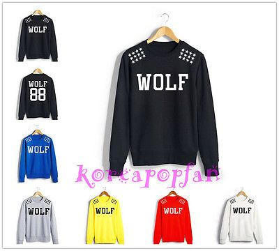 Exo XOXO Wolf Growl Mama from Planet sweat Hoodie Sweater Luhan Kris KPOP  New
