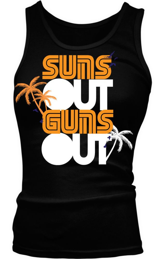 Suns Out Guns Out Summer Saying Beach Body Workout Funny Boy Beater Tank Top #Unbranded #TankCami #Casual